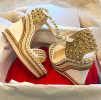 Sommer-Designer-Namen-Marken-Frauen-Rot-Unterseite Sandalen Madmonica Espadrille Wedges, reizvoller Dame-Absatz-Knöchel-Bügel-Ohr Gladiator Sandalen