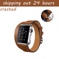 CRESTED Genuine Leather band band 42mm 38mm watch belt brace...