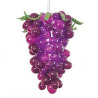 Lámparas Aparamadas de vidrio de vidrio de vidrio de vidrio árabe de luz árabe Forma de uva púrpura Lámpara de candelabro