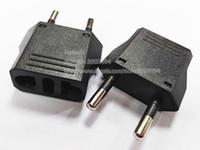 EURO EURO MASCULINO PARA NÓS American Feminino Plug Travel Power Adapter AC Conversor CA Tomada de tomada elétrica / frete grátis / 20 pcs
