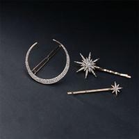 Fashion Star luna di capelli strass clip di capelli di Pin delle donne della ragazza di Blingbling di cristallo completo Accessori per capelli Belle T561 Jewelry