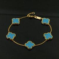 venta caliente de la moda brazalete de titanio pulsera de acero la hoja de colores de 18 quilates de oro de alta calidad adecuada para el regalo pareja