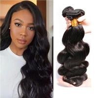 Virgen al por mayor del Perú la onda del cuerpo del pelo humano teje Cierre paquetes de encaje 3 4 Piezas de Malasia onda del cuerpo de extensión del pelo humano