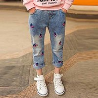 Sweet Style Children' s Clothes Cherry Jeans Fashion Cot...