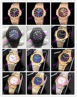 18 style Luxe Montre 5711 bracelet super lumineux inoxydable de 40 mm Asie 2813 Mouvement mécanique automatique Hommes Montres Montres
