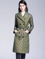 새로운 스타일의 2019! 여성 패션 잉글랜드 플러스 긴면 패딩 코트 / 브랜드 디자이너 이중 여성의 크기에 대한 재킷 브레스트 S-XXL # 886F240