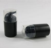 50ml Siyah Plastik Havasız Losyon Pompası Şişe Boş Vakum Basınç Seyahat Kozmetik Konteynerleri Ambalaj Araçları Doldurulabilir Compacts RRA3158