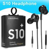 상자에서 S8 S9의 볼륨 제어와 높은 품질 OEM 이어폰 S10 이어폰베이스 헤드셋 스테레오 사운드 헤드폰