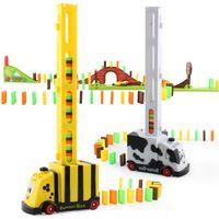 CK Creative Cartoon Biene Kuh Domino Automatische Put-in-Zug, Entwicklungsspielzeug, Elternkind Interaktives Spielzeug, Party Weihnachtskind-Geburtstagsgeschenk 2-2