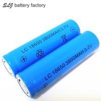 Высокое качество LC 18650 3800mAh 3.7V батареи плоской лития может быть использован в яркий фонарик и так далее.