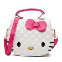 b5fb837f7ace New Young Girls Bag Crossbody hello kitty Bags For Baby Girls Pick PU  Children Shoulder Bag Fashion Small Kids Princess Handbag