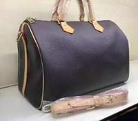 여성 메신저 가방 패션 가방 여성 가방 디자이너 숄더 가방 레이디 토트 핸드백 스피디 35cm 어깨 끈 부착, 30cm