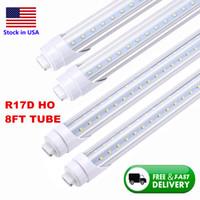 65W V Shaped LED Tubes 8ft 6000K R17D HO Base LED T8 Tube 45W Ballast Bypass 8 feet LED Fluorescent Tubes Lamp bulb