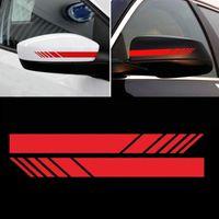 2Pcs / set temporaneo Car Styling Rear View Mirror adesivi personalizzati riflettente decorazioni Moto Adesivi Accessori per automobili