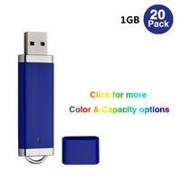 20 Pack Blue Lighter Model 64MB-32GB USB 2.0 Flash Drives Flash Pen Drives Memory Stick för Dator Laptop Thumb Storage LED-indikator
