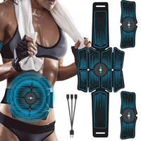 Eletroestimulação muscular Estimulador EMS Abdominal vibratório Belt ABS Muscular Hip instrutor Massagem Home Fitness Equipment J1756