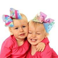 Girls Swia Bows Unicorn Pein Bows con Clemator Clip 12 cm Amplio arco iris Bowknot Barrettes Horquillas para niños Headwear Accesorios para el cabello Regalos