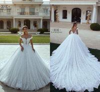 2019 Nuevo vestido de novia de lujo vestido de novia palabra de longitud apliques de encaje princesa blanca vestido de novia formal más tamaño Vestido De Noiva por encargo