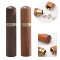 Tubo di legno Holder Aghi stuzzicadenti tubo mano sicura da cucito Aghi involucro Cilindro Scatola Creativo Nuovo bagagli con coperchio