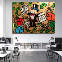 Money Man Graffiti Minimalist Nordic Canvas Posters Prints W...