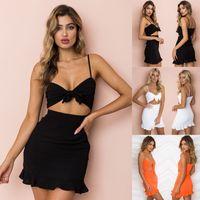 Sexy Mode-Frauen-Dame-Sommer-Kleid 3 Stil ärmelträgerloser Bogen Fest hohe Taillen-dünnes Bleistift-Kleid Sundress