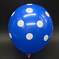12 inch Latex Balloon with Spots Points unit 2. 8g 100pcs pac...