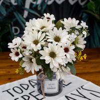 21 Hoofd nep bloem lente mooie daisy silk samll zonnebloem woondecoratie foto rekwisieten kunstmatige chrysanthemum