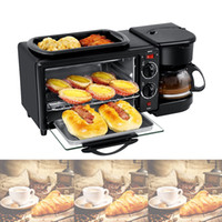 Elektro 3 in 1 Frühstück Maschine Multifunktionsmini-Drip Kaffeemaschine Pizzöfen Eiomelett Bratpfanne Toaster
