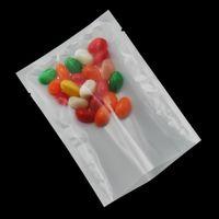 9 * 13 cm Przezroczysty / Biały Plastikowy Pakowanie Pokrowiec 200 sztuk / partia Cukierki Żywność Suszone wołowiny Przekąski Próżniowa Ciepła Pakiet Package