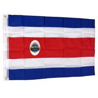 3x5 150X90cm Ulusal Özel Kosta Rika Bayrağı Toptan Bayrağı Banner% 80 Tek Yan Baskı Polyester kanar, ücretsiz kargo