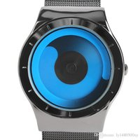 Neutral Creative Rotating Pointer Mens Watches Gradient Colo...