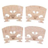 4 stks Violin Bridges Fiddle Maple Wood voor 4 / 4-3 / 4 Size Instrument Accessoires Viool Strings Bridge Part Tools