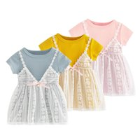 2be8c2fd0 Wholesale infant dresses online - Baby Girl Lace Princess Dress Kids Girl  Summer Cotton Lace Dress