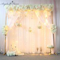 التصميم الأصلي الزفاف قوس ديكور زهرة صف ترتيب الجدول الاصطناعي محور زهرة الكرة الستار الزاوية الزهور