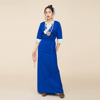 Traditioal Chinese dress Mongolian Tibetan gown National cos...