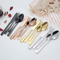 4 Renk Lüks Sofra Takımı Set Kaşık Çatal Bıçak Çay Kaşığı Yemek Seti Paslanmaz Çelik Yemek Seti Mutfak Eşyası DH0280