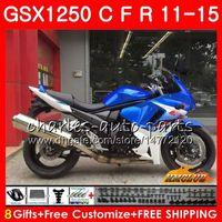 Kropp för Suzuki Bandit GSXF1250 GSX1250FA 2011 2012 2013 2014 2015 23HC.47 GSX1250C GSX1250 C GSX1250F Blue White 11 12 13 14 15 Fairings