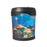 Multicolored قنديل البحر دبابات البحرية العالم السباحة ضوء المزاج أدى أضواء الحوض ليلة أضواء الأطفال مصباح الزخرفية