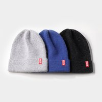 Designer Beanie Winter Rabbit Fur Warm Wool Pullover Cap Col...