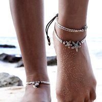 Anklets women Jewelry simple Anklets new summer Beach Multil...
