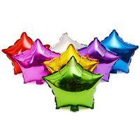 Düğün ve Olaylar için 18 inç Beş Köşeli Yıldız Helyum Alüminyum Folyo Balonlar 9 Renkler