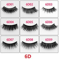 6D Synthetic Hair False Eyelashes Thick Long Cross Lashes So...