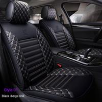 Hochwertiges PU-Leder Autositz-Abdeckung Set für Toyota Corolla CHR Auris Wish Aygo Prius Avensis Camry 40 50 Autozubehör Autositz
