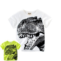 hot sale summer dinosaur printed round neck kid t shirt for ...