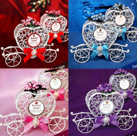 Сердце образного Металла Белого Carriage Конфета Шоколад Box Девушка Принцесса Birthday Party Сладость Box венчание украшение Xmas Gift Wrap