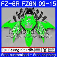 Corpo para YAMAHA FZ6N FZ-6R 2009 2010 2011 2012 2013 2014 2015 239HM.38 FZ 6R FZ6 R FZ 6N FZ6R 09 10 11 12 13 14 15 Carenagens quente Gloss verde