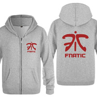 Herren Hoodie Spiele Fnatic Team-Logo Zipper Hoodies Männer Fleece Langarm-Jacken-Mantel-Qualitäts-Skateboard Sweater