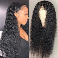 Curly Lace Front Wig Bleached Knots Glueless Peruvian Virgin...