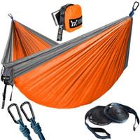 Mise à jour Camping hamac avec hamac arbre sangles en nylon Portable Parachute pour Backpacking Voyage