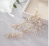 Bridal jewelry European and American crystal hairpins Hand-knitted bridal tiara Bridal wedding hair accessories